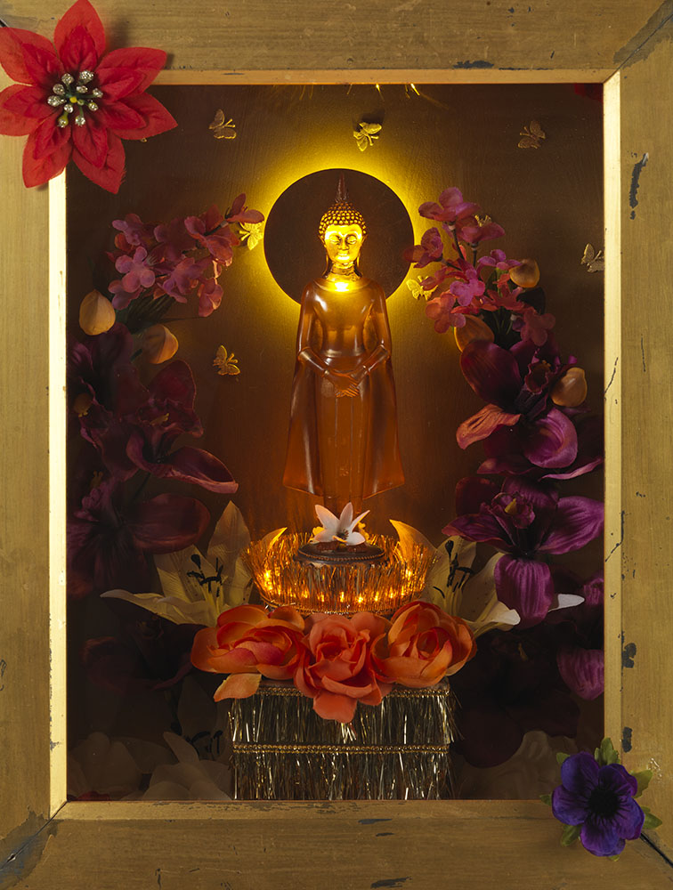 The Golden Buddha (Detail) by Sarah Kelly