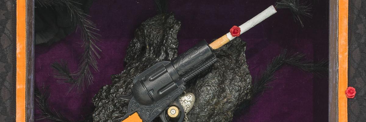 My Smoking Gun (Detail) by Sarah Kelly